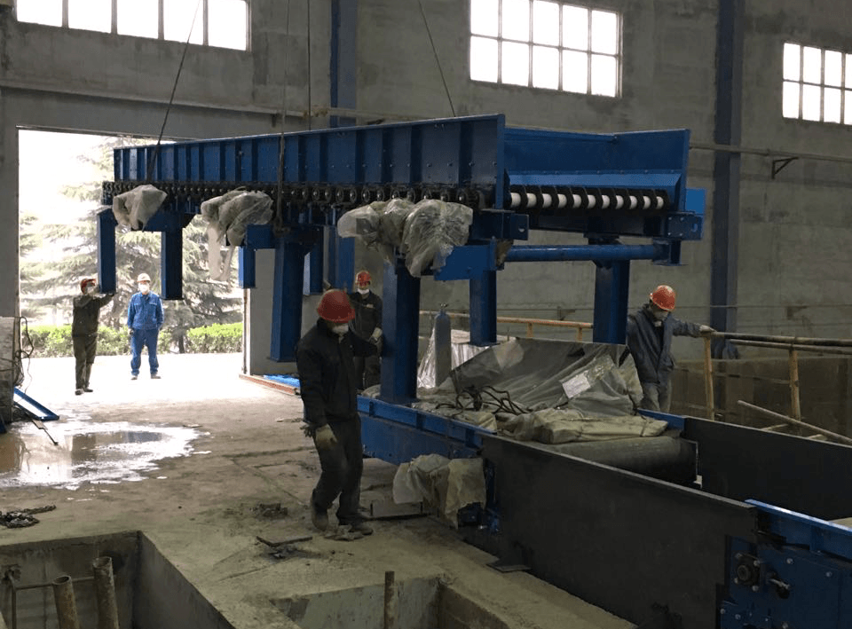 The project of MSW transport and screening system Luoyang Henan Province.